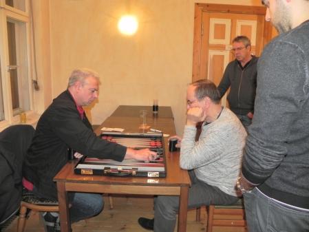 Match um Platz 3: Aleksandr Khandin (li), Ralf Jonas, Kiebitze