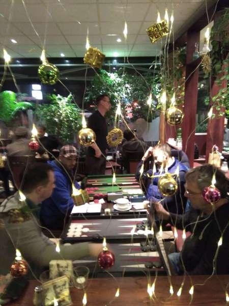Weihnachtsstimmung beim Berliner WeihnachtsCup: Mario Kühl (li) und Ralf Sudbrak