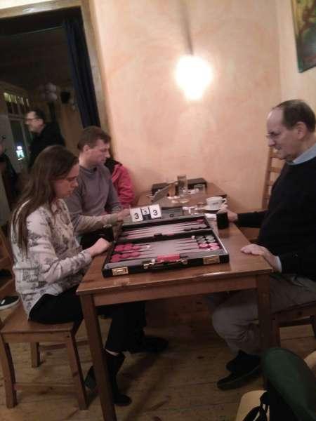 Josefin Bichler (li) und Ralf Jonas im Halbfinale der Second Chance