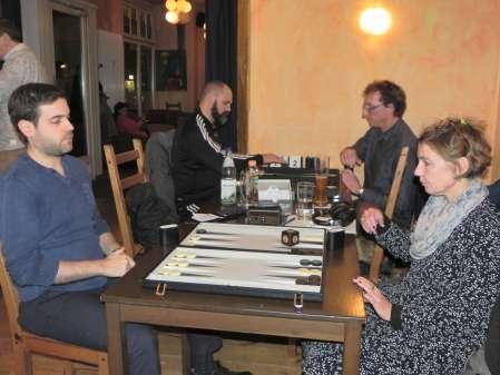 Sabine Brinkmann und Faruk Kocaer. Im Hintergrund Lutz Steuer (re) und Tibor Taylor