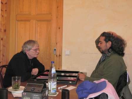 Karl-Heinz Baatz (li) und Charon Fathieh im Beginnersturnier