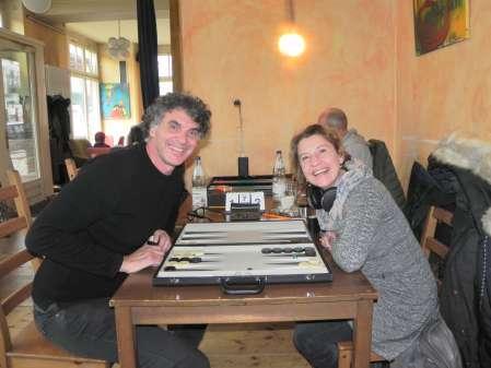 Lachen und Spielen und gute Laune: Sabine Brinkmann, Frank Petrikat