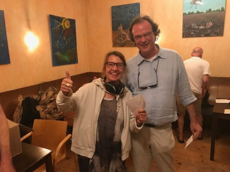 So herzhaft sieht man sie oft lachen: Sabine Brinkmann, Finalistin der Second Chance des Jahresendturniers