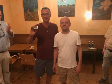 Gemeinsam Berliner Speedgammonmeister: Michael Horchler (li), Rolf Schüler