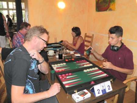 Match um Platz 3: Thorsten Miesel (li), Yonas Brinkmann