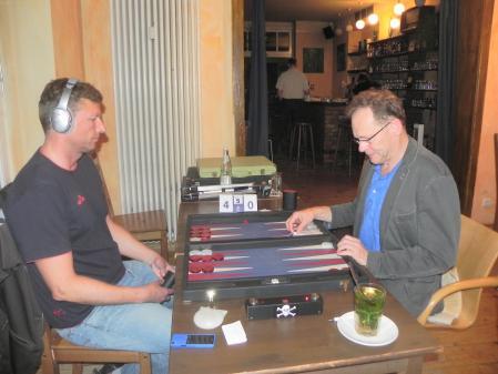 Match um Platz 3: Guido Weidner (li), Thomas Frübing