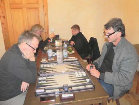 Marcus Selle (li) und Frank Petrikat. Dahinter Karl Heinz Baatz (li) und Frank Maschkiwitz