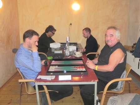 Christian Setzpfandt (li) und Jürgen Lange, dahinter Frank Petrikat (li) und Paul Schlegel