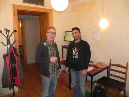Marcus Selle (li) und Hossein Lak