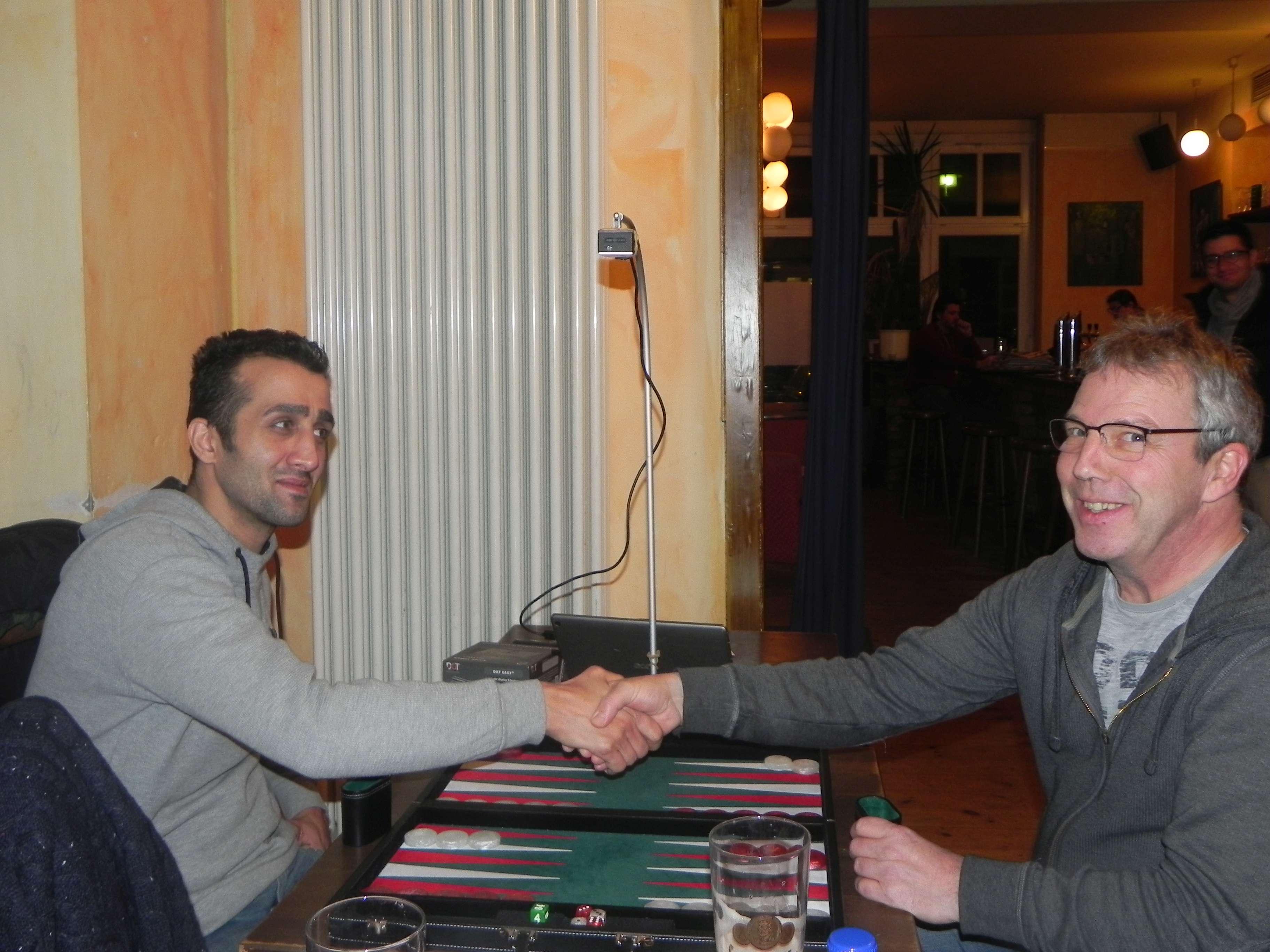 Finale: Meisam Jamshidi (li) und Ralf Sudbrak