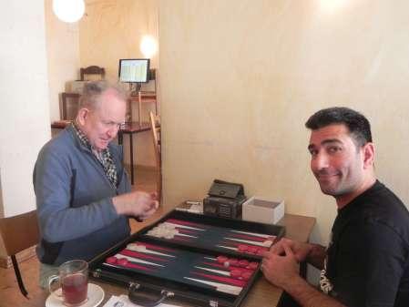 Bill Pope (li), gekorener Billiner, und Hossein Lak