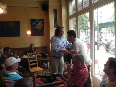 Wir verabschieden Ufuk Doğanay, der für vier Jahre auf der anderen Seite des Atlantiks Backgammon spielen wird