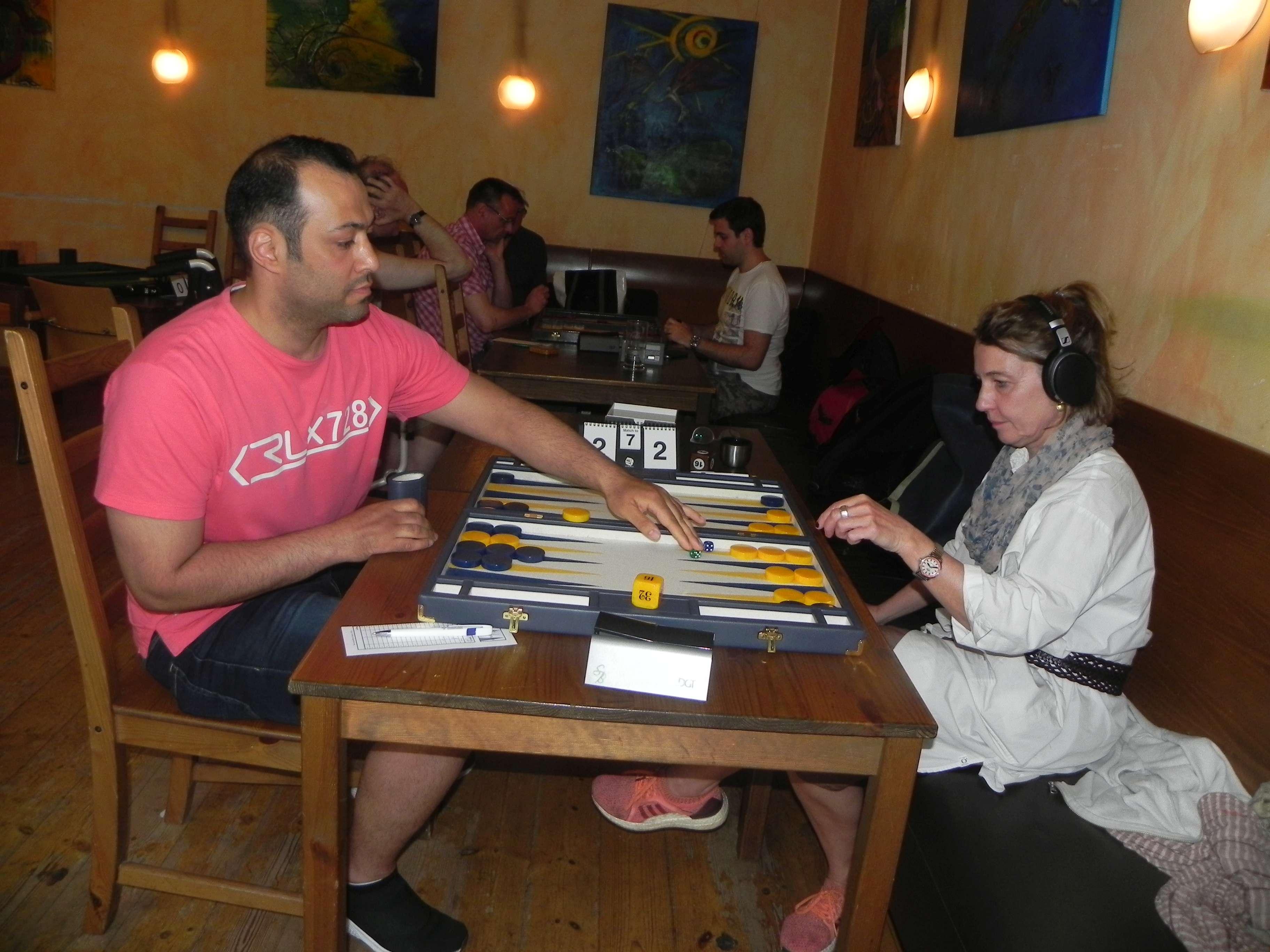 Viertelfinale der Second Chance: Amir Golshani und Sabine Brinkmann