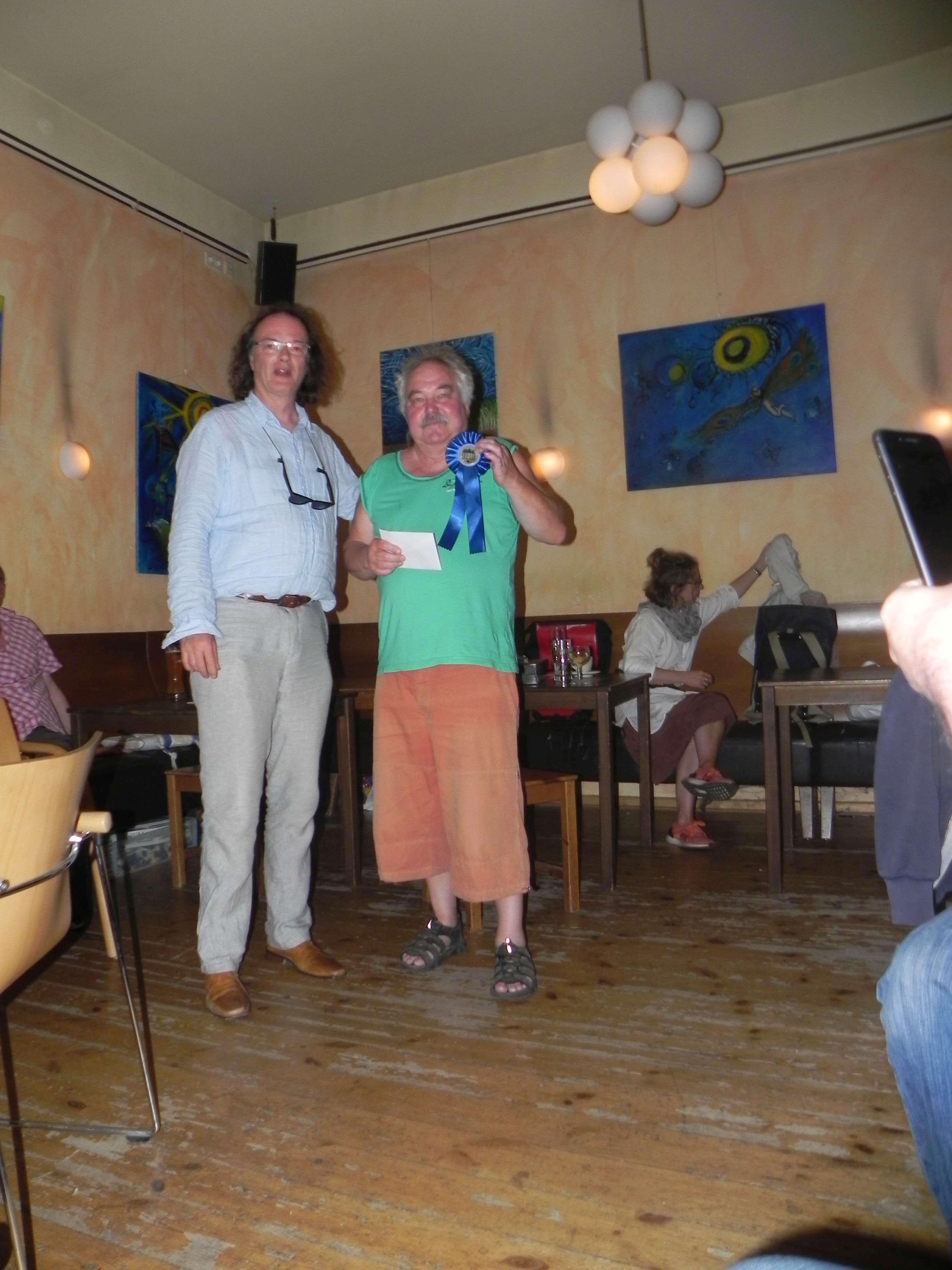 Turniervierter: Jürgen Lange mit Medaille