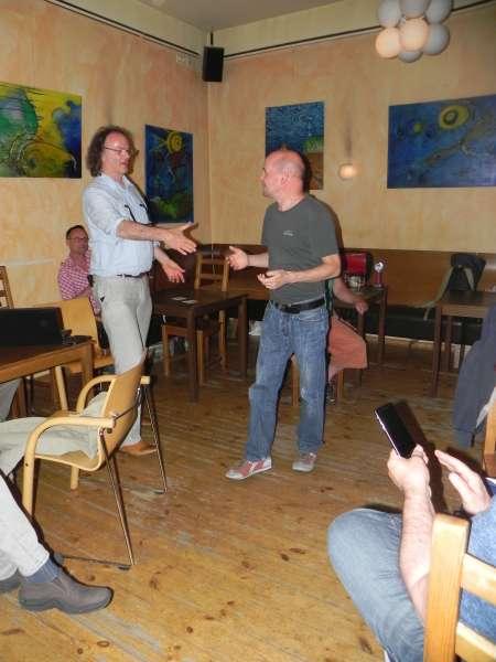 Glückwunsch: Turnierleiter und Dritter der Jahreswertung im Speedgammon Rolf Schüler