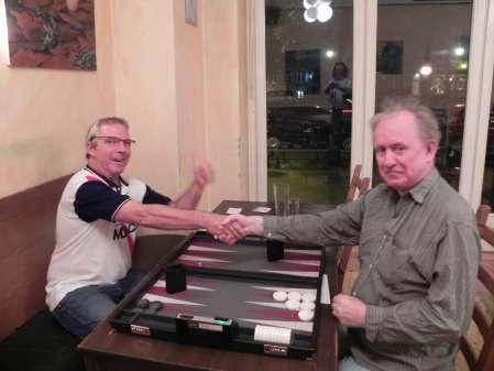Vor dem Finale der Second Chance: Ralf Sudbrak (li) und Bill Pope, der schon mit britischer Zurückhaltung lächelt