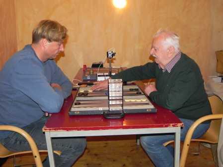 Guido Weidner (li), Horst Strehlow energisch