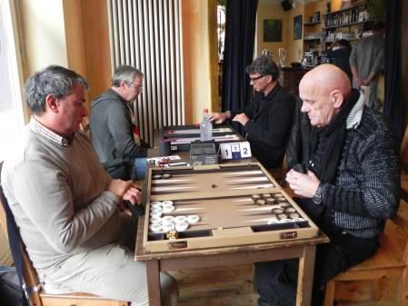 Bernhard Ludwig Winkelhaus (re) und Andreas Kohlschmidt. Dahinter Ralf Sudbrak (li) und Frank Petrikat