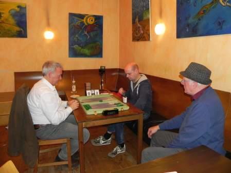 Finale der Second Chance: Ruedi Altermatt (li), Rolf Schüler, Kiebitz Wolfgang zum Winkel
